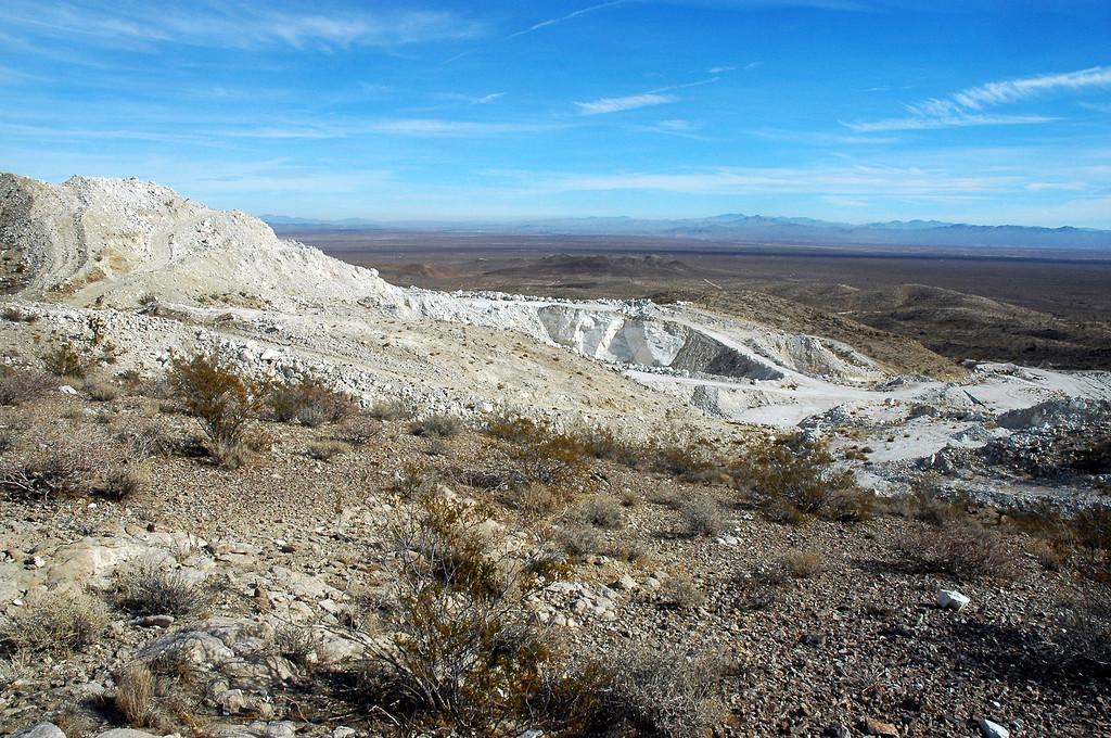 Passed this mine as we neared the peak.