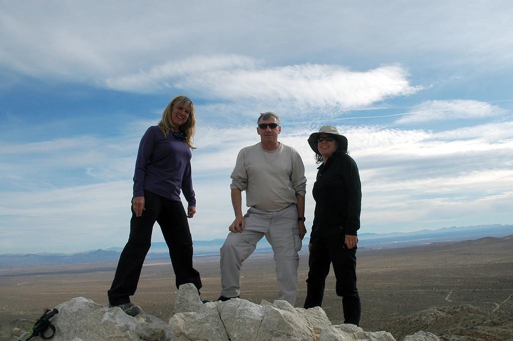 Sooz, me and Rachel on Silver Peak at just over 4,000 feet.