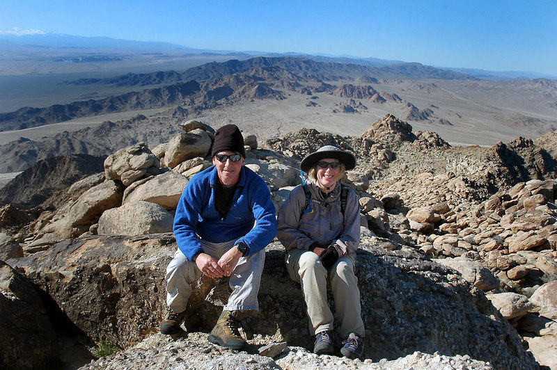 Kathy and me on the summit at 4,613' with a view to the west. This is the biggest little mountain I've ever climbed.