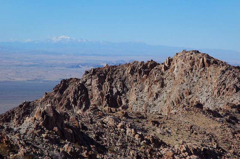 San Gorgonio Mountain comes into view in the distance as we gain altitude.
