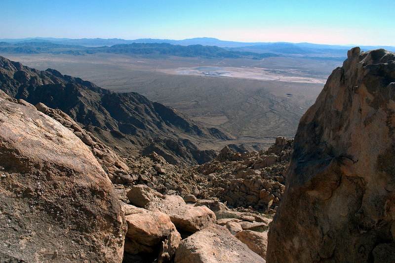 Another view of the dry lake.