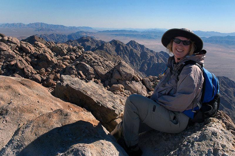 Kathy on the summit.