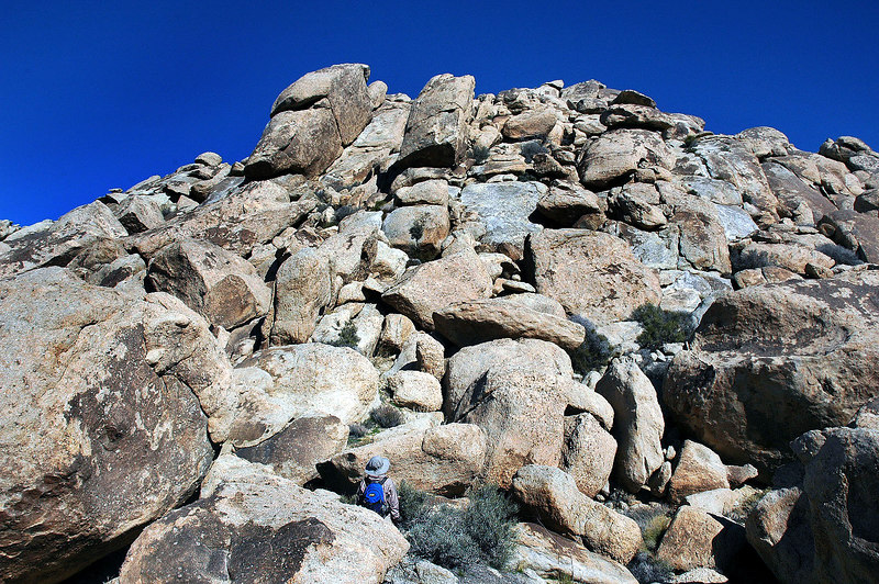 This pile of rocks leads to the summit.