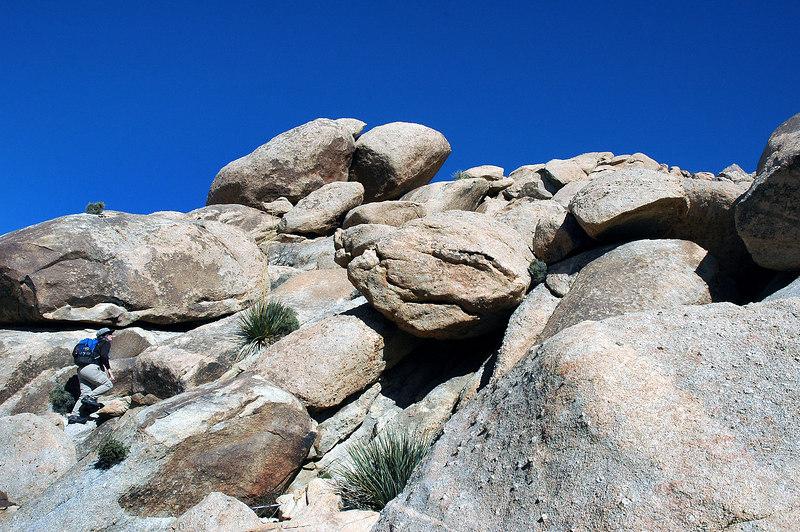 Lot of big rocks.