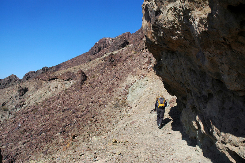 We hiked around is bump on the ridge.
