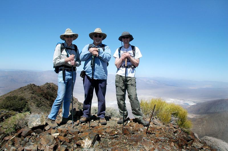 Justin, Richard and Gary on the peak.