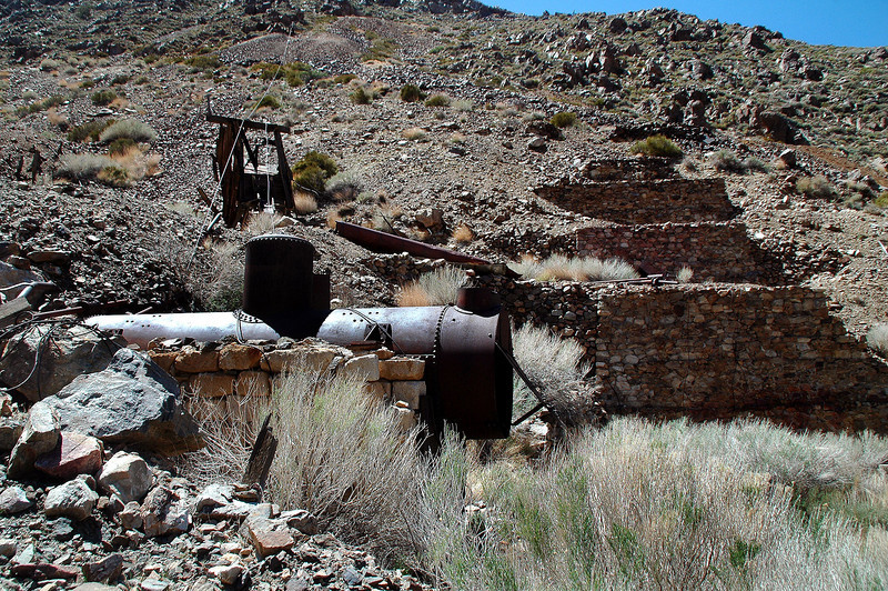 At the mine site.