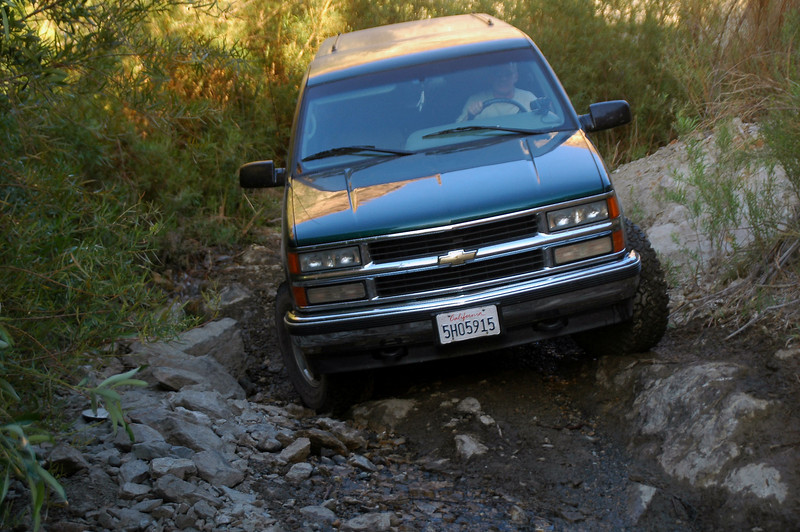 This was the only section of the canyon road where four wheel drive was needed.
