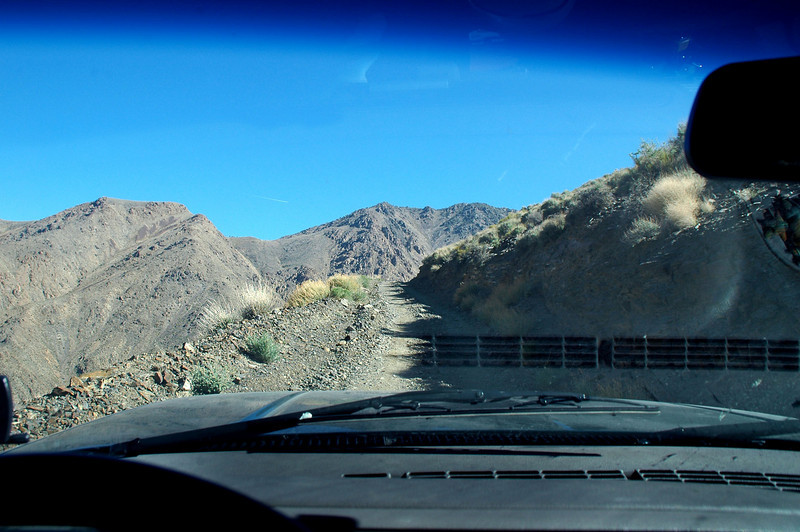 Driving up the World Beater Mine Road.