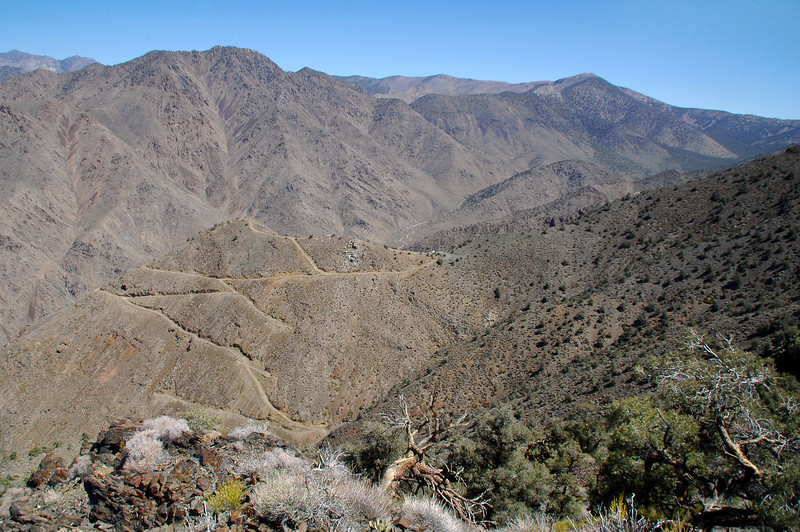 View to the northeast, Sentinel Peak on the rigth.