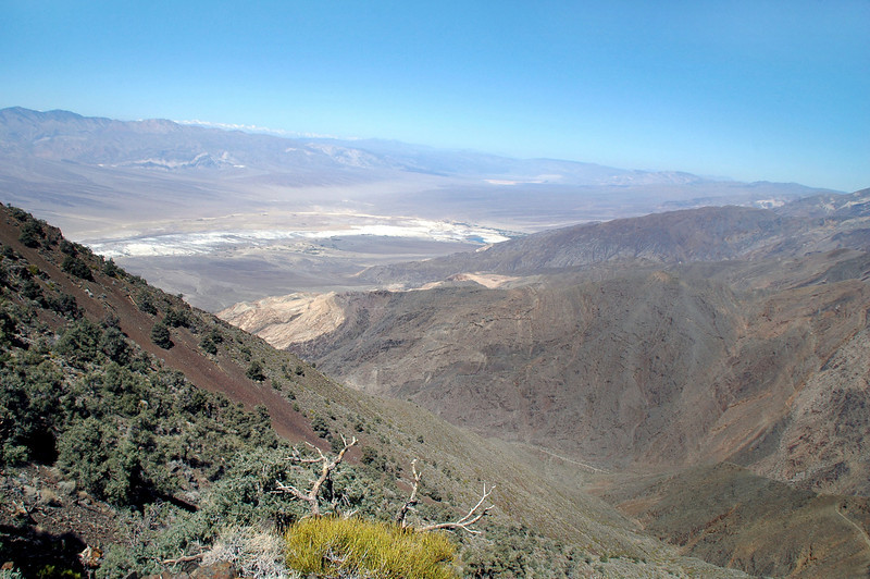 View to the northwest of the Panamint Valley and the Sierra beyond.