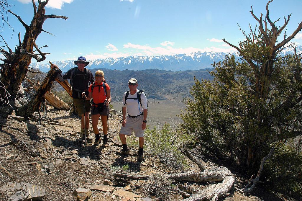 Us on the summit of Squaw Peak 10,358'.