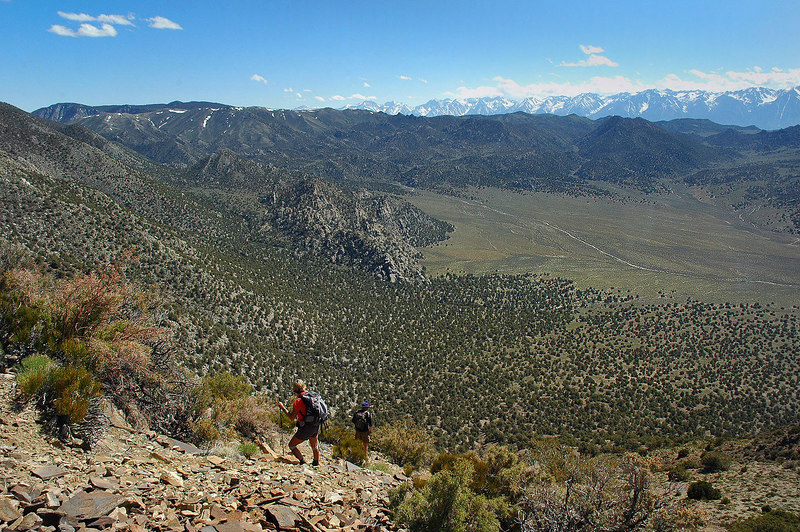 The first of a three shot pano of Squaw Flat. This is the south end.