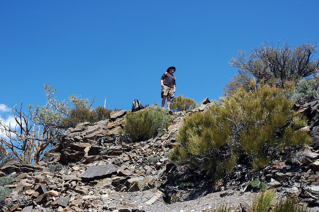 John standing on the summit.