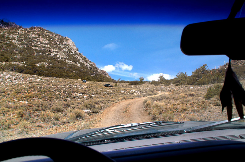 Driving beyond the mine to the trailhead for New York Butte.