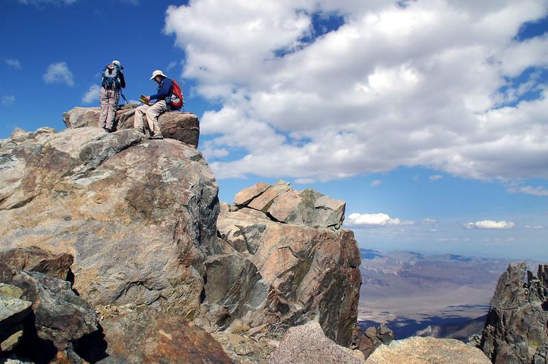 Sooz and John on the peak.