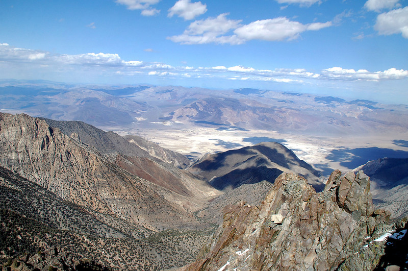 Saline Valley to the east.