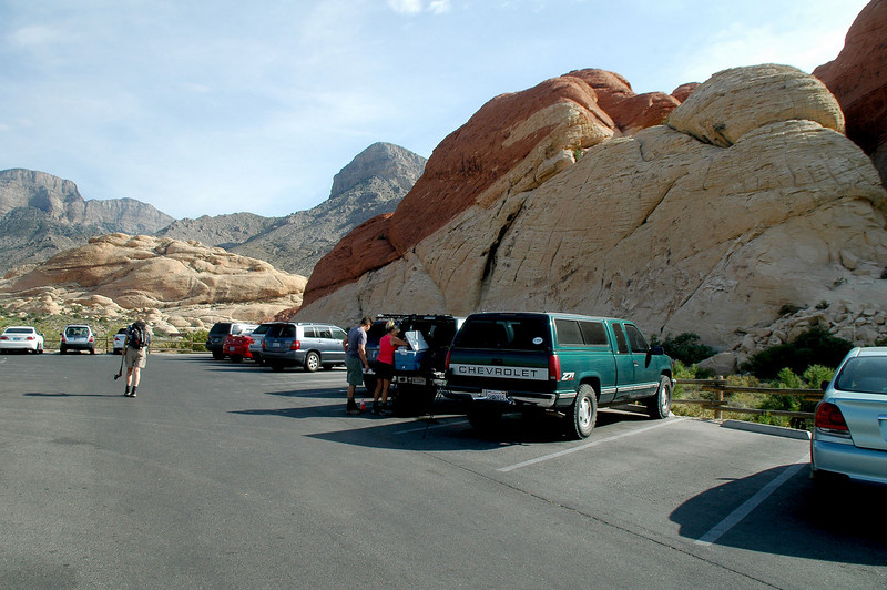 At the Sandstone Quarry parking lot. Our hike to Turtlehead Mountain starts from here.