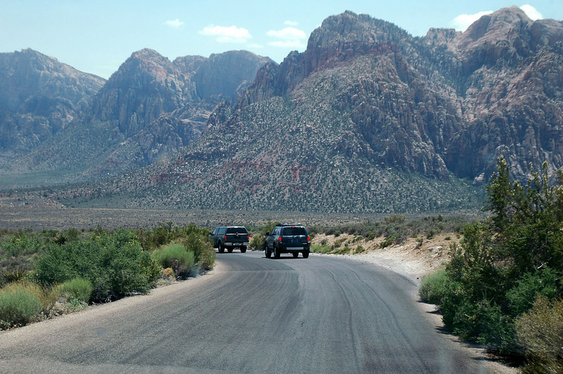 Following Chip, Sooz and Robin on the Red Rock Scenic Drive.