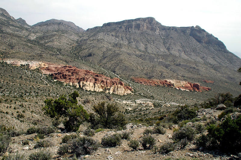 View of La Madre Mountain on the other side of the saddle