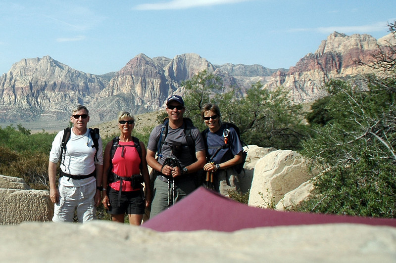 Joe(me), Sooz, Chip and Robin at the start of the hike.