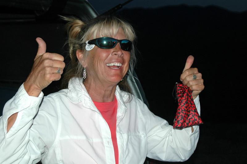 New sunglasses, one of the presents Sooz got. Tomorrow's hike will be Charleston Peak.<br /> <br /> THE END
