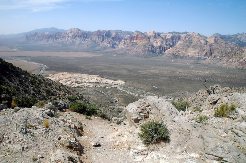 View of the Sandstone Bluffs from the saddle.
