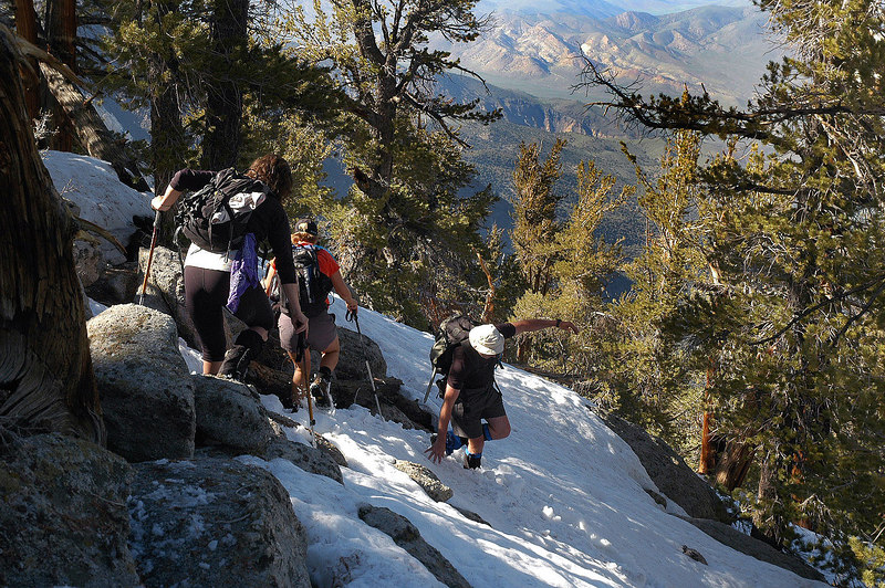The start of the steep stuff.