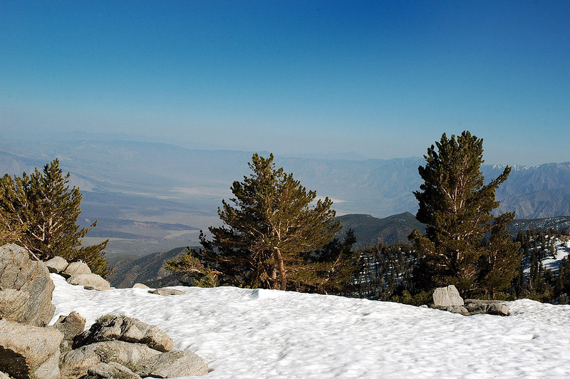 Looking to the southeast into the Saline Valley from the peak.