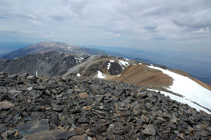 Looking north towards Bounday Peak.