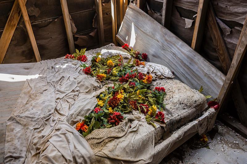 Death Bed? Shrine, Wonder Valley, California.