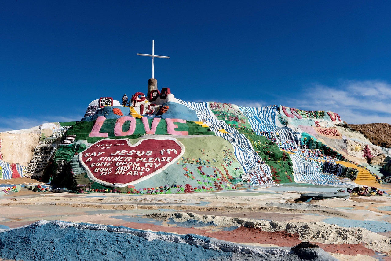 Salvation Mountain, near Niland, Imperial Valley, California.