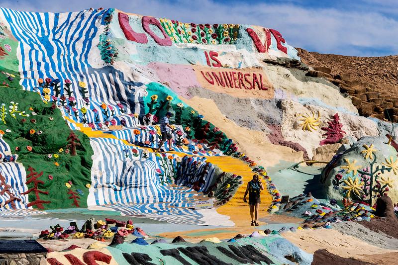 Salvation Mountain.  Artist:  Leonard Knight.