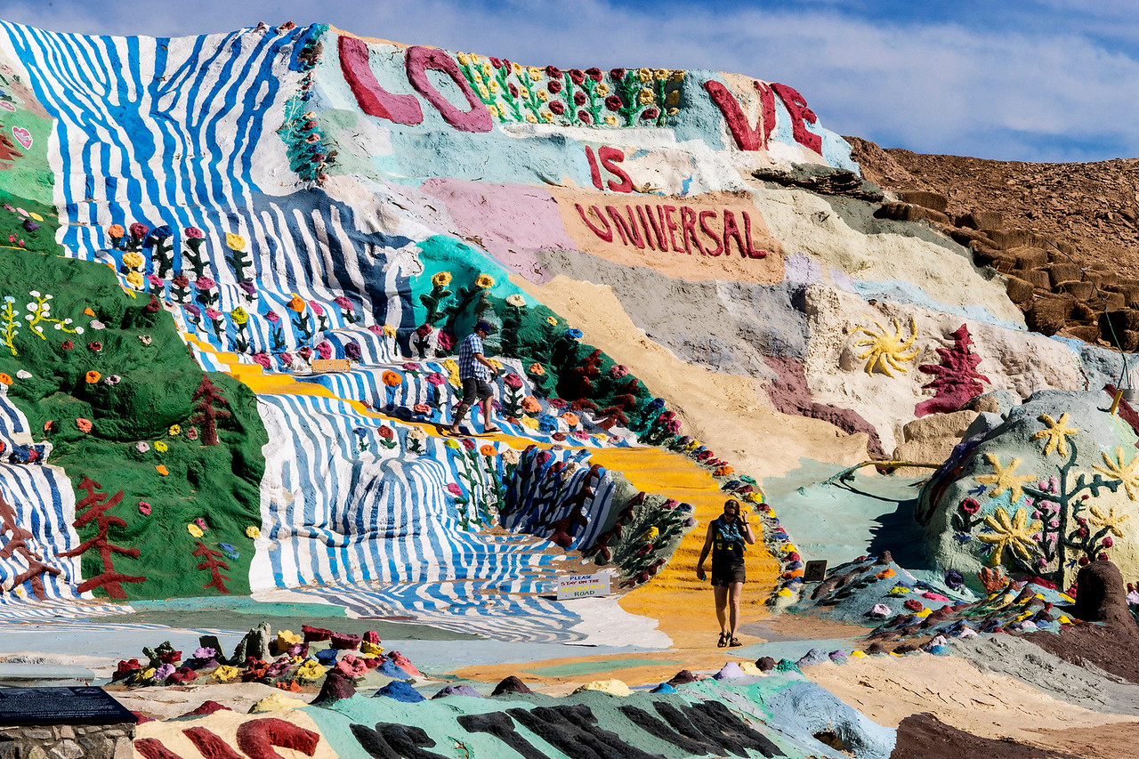 Salvation Mountain.  Artist:  Leonard Knight.