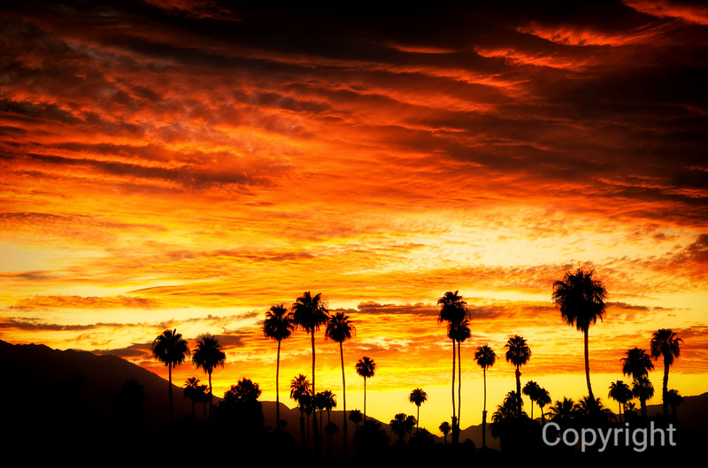 Coachella Valley, Ranchop Mirage, Palm Springs sunset