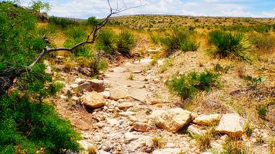 Dry Creek Bed, Southwest Texas Desert