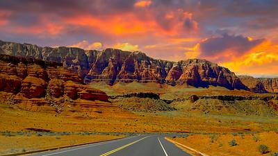 Driving in the desert of Utah