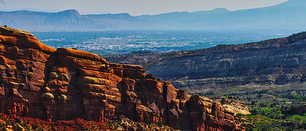 Grand Junction, CO, USA, from Colorado N. M.