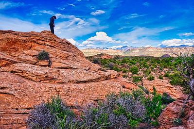 View of the LaSal Mountains, Utah