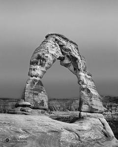"""Vintage,"" Delicate Arch, Arches National Park, Utah"