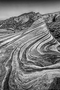 """Hypnotized,"" The Fire Wave in Black and White, Valley of Fire, Nevada"