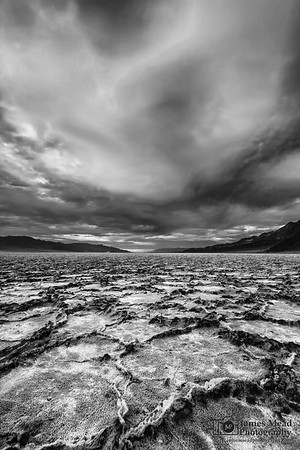 """""""Alien Planet,"""" Clouds over Badwater Basin, Death Valley National Park, California"""