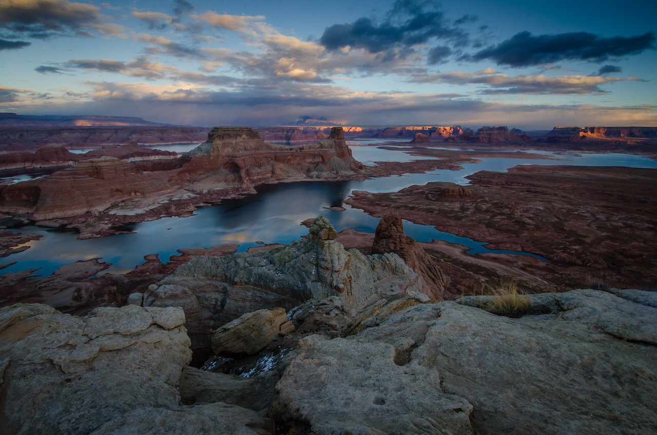 Last Light over Gunsight Butte