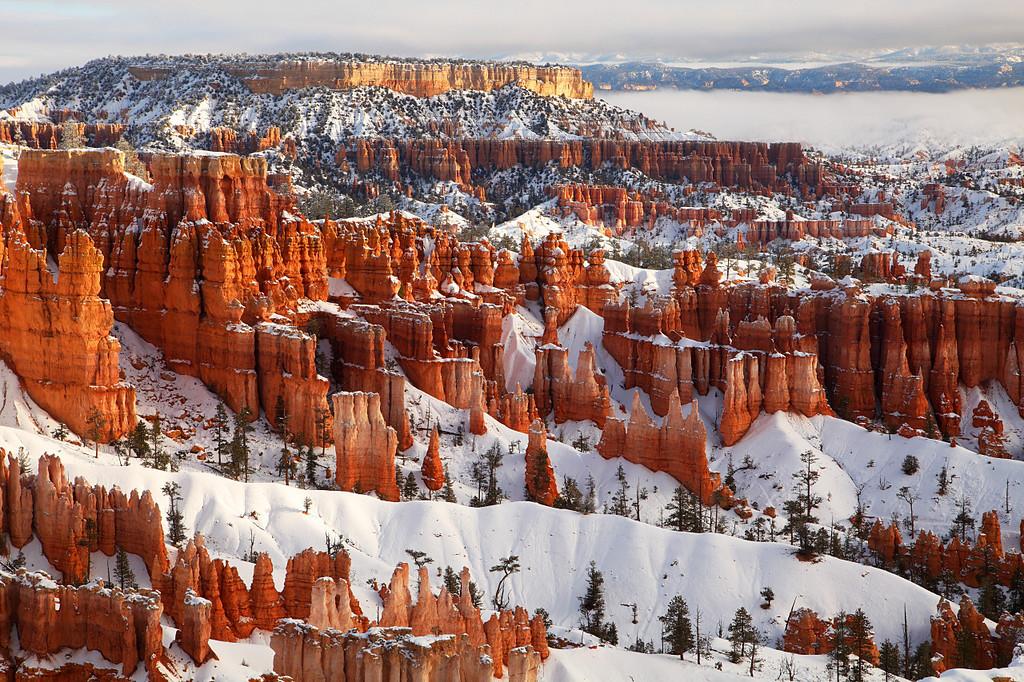 Hoodoos, Winter Bryce Canyon National Park Utah