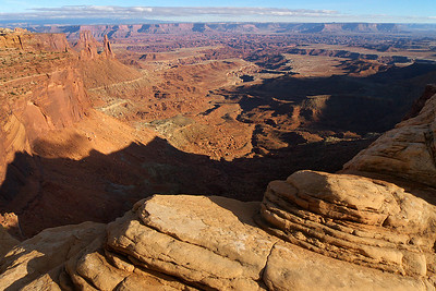 Mesa Arch Overlook, Afternoon Canyonlands National Park Utah