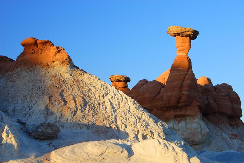 Rimrock Hoodoos at Sunset Paria Wilderness Utah