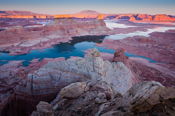 Pastel Sunset over Lake Powell