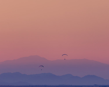 Fermata Sunset (Paragliders Over Salton Sea)