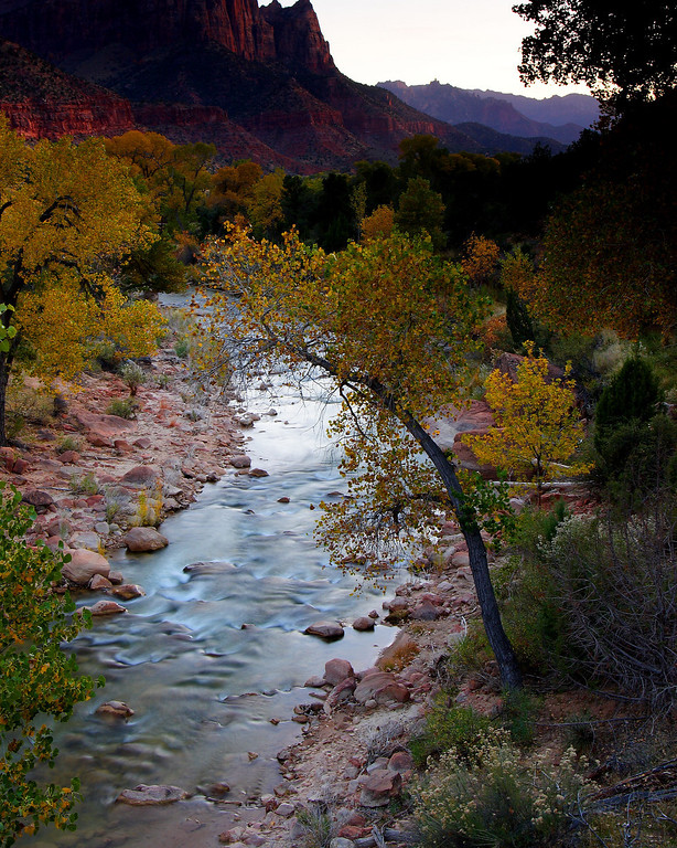 Virgin River Zion National Park Utah