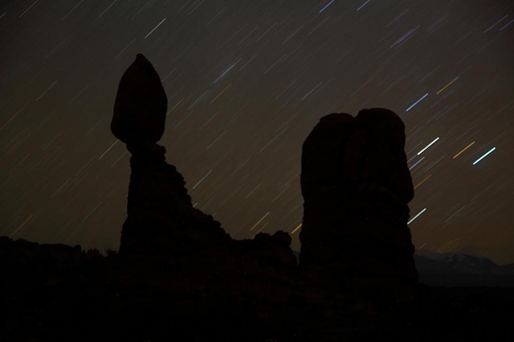 Star Trails, Balanced Rock Arches National Park Utah